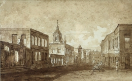 View of Moscow after the fire of 1812