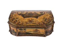 Lacquered wooden box with prints byRemondini