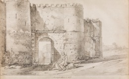 View of Porta Pinciana in Rome