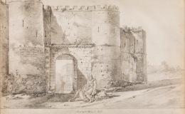 View of Porta Pinciana inRome